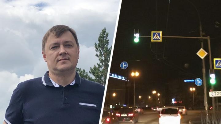 Простой водитель прошелся по Новосибирску и посмотрел, как (не)освещаются «зебры». Вот что он увидел
