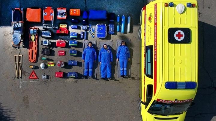 Зеленогорские врачи скорой приняли участие в мировом флешмобе Tetris Challenge