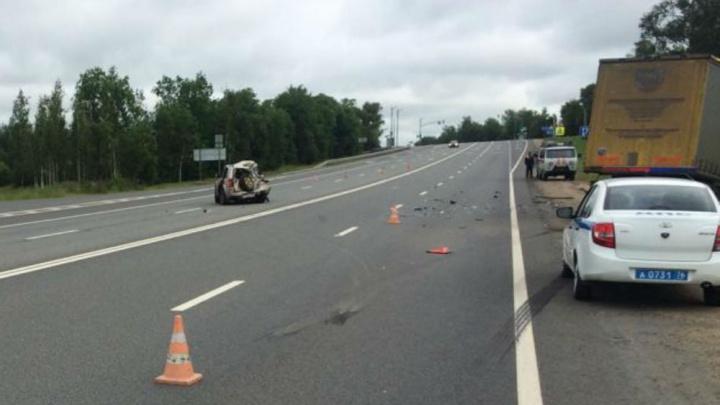 Машины раскидало по дороге: в тройном ДТП на трассе М-8 в Ростовском районе пострадали пять человек