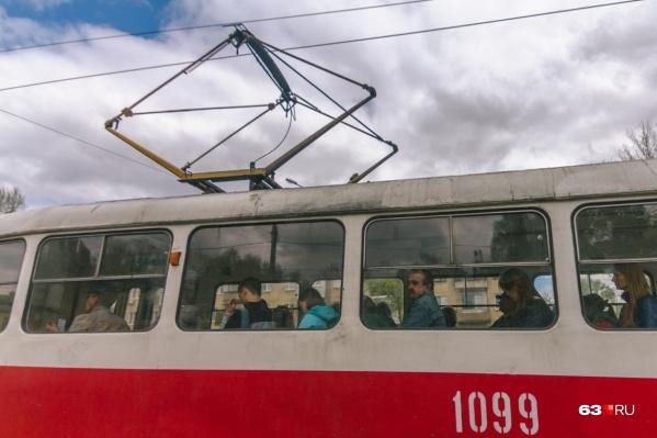 Трамваи будут следовать только до Юнгородка