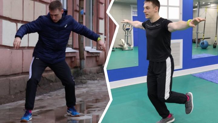 Не падайте: тренер по бегу и фитнесу показал, как ходить по ледяному тротуару