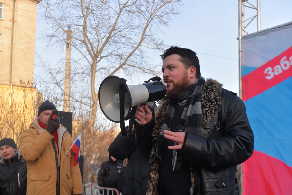 Бастующих вел за собой Леонид Волков, руководитель предвыборного штаба Навального
