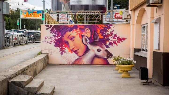 Граффити популярной новосибирской художницы исчезнут с Красного проспекта