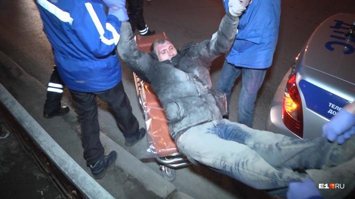 Мужчину успели увезти прежде, чем он спровоцировал бы какую-либо аварию