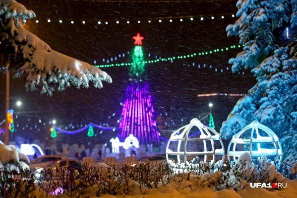 Мороз не помешает тысячам уфимцев прогуляться в новогоднюю ночь