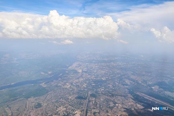 С такой высоты весь Нижний Новгород как на ладони