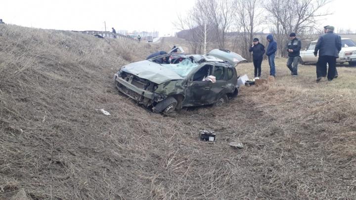 Иномарка сделала кульбит: на трассе в Башкирии в аварии погибла женщина