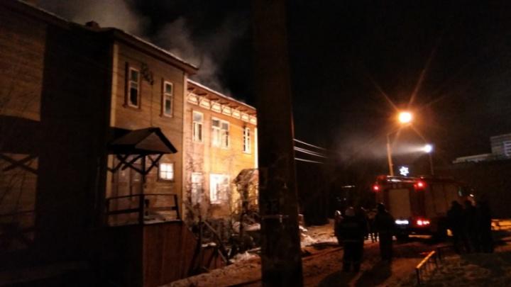 Ночной пожар в центре Архангельска: пострадали шесть человек