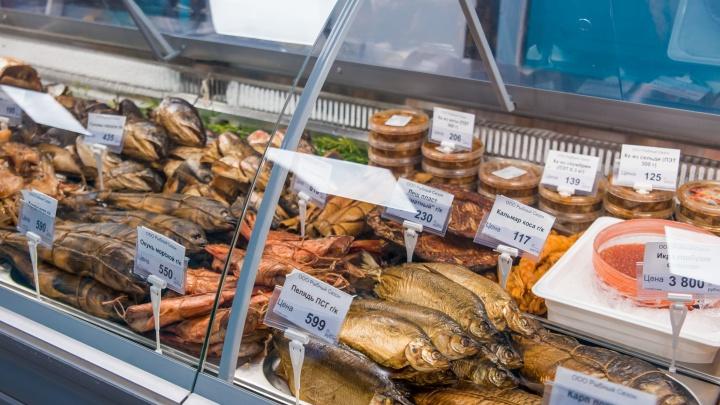 Лангустины и икра со скидкой: рядом с метро открылся новый рыбный магазин
