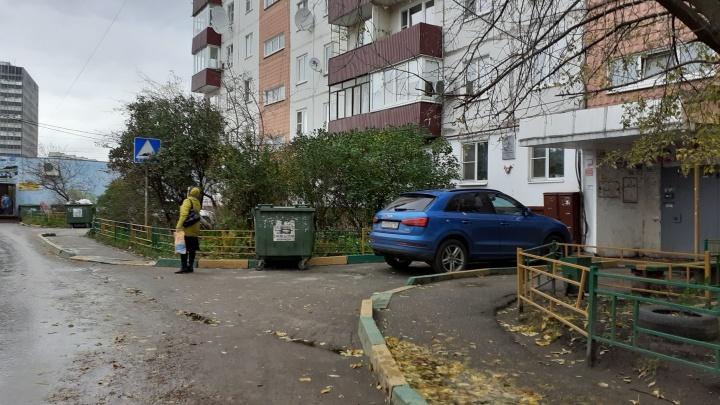 Короли парковки притаились на тротуарах и в осенней листве