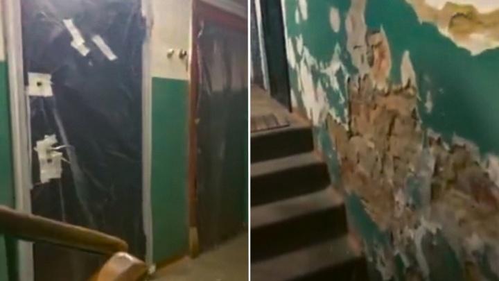 «Разгромили и ушли»: жители дома в Ярославле уже больше месяца ждут ремонта