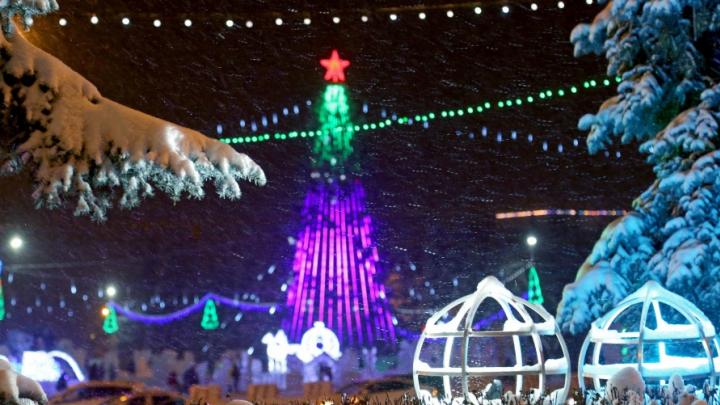 За неделю до Нового года Уфа засверкала яркими огнями