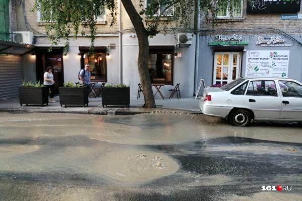 Поток движется в направлении Пушкинской