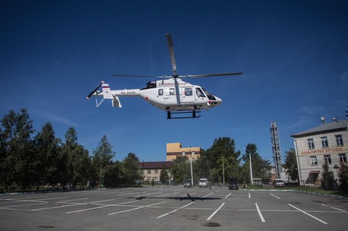 Вертолёты санитарной авиации базируются в Челябинске и Магнитогорске