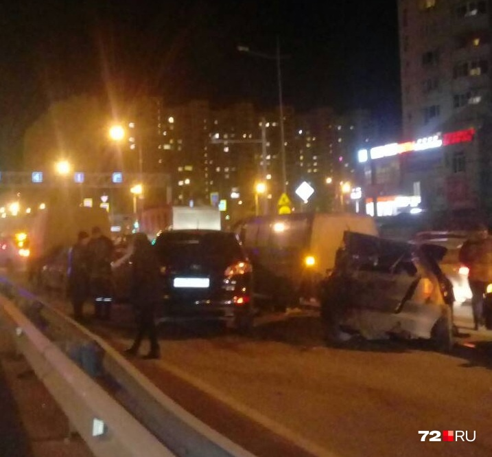 В массовом ДТП пострадал один водитель