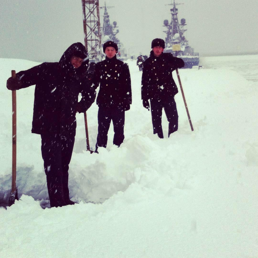 Обычный снегопад на Камчатке