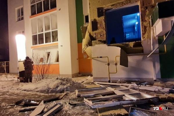 Осколки от взрыва разбросало на несколько метров