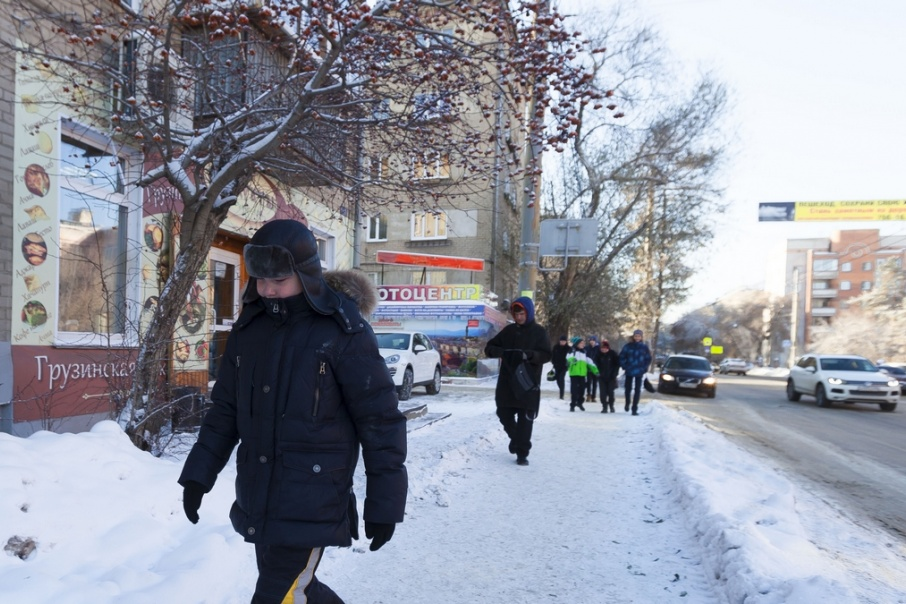 Столбики термометров утром в Татьянин день опустились до отметки –27 градусов