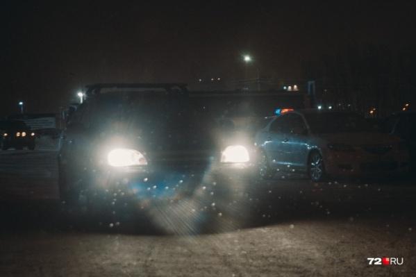 Столкновение произошло около 6 часов вечера 1 января