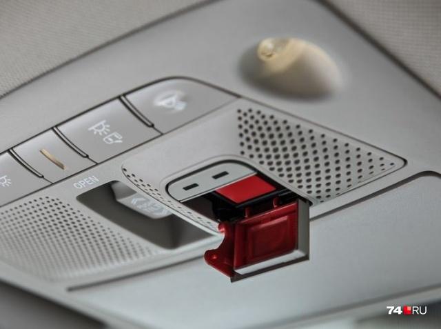 Кнопка «ЭРА-ГЛОНАСС» в Nissan Murano