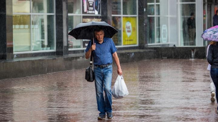 Волна холода несёт в Новосибирск дожди с грозами
