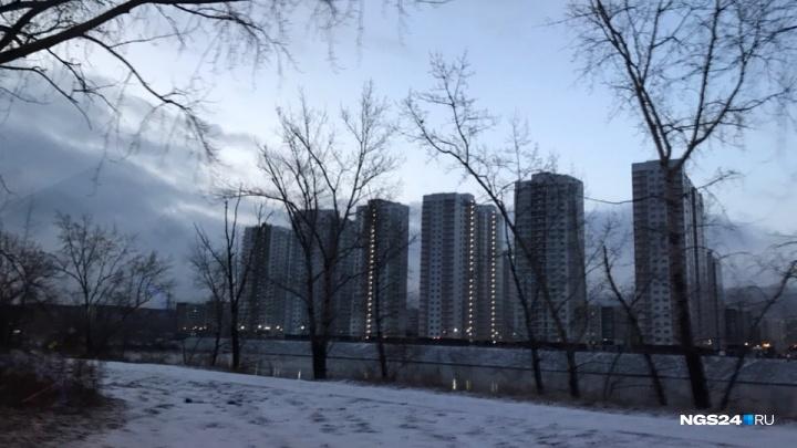 Ветер раздул грязный воздух над Красноярском