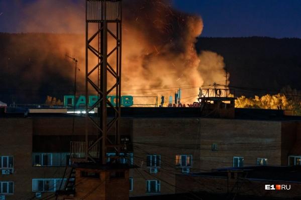 Так дым от пожара выглядел с Большакова