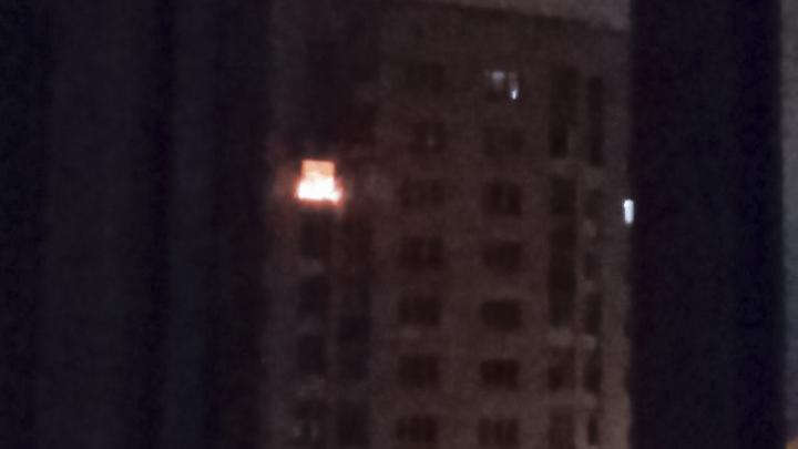 В Башкирии загорелась квартира в многоэтажке
