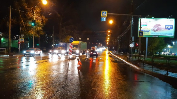 На Советском шоссе водитель «Короллы» сбил пешехода на «зебре»
