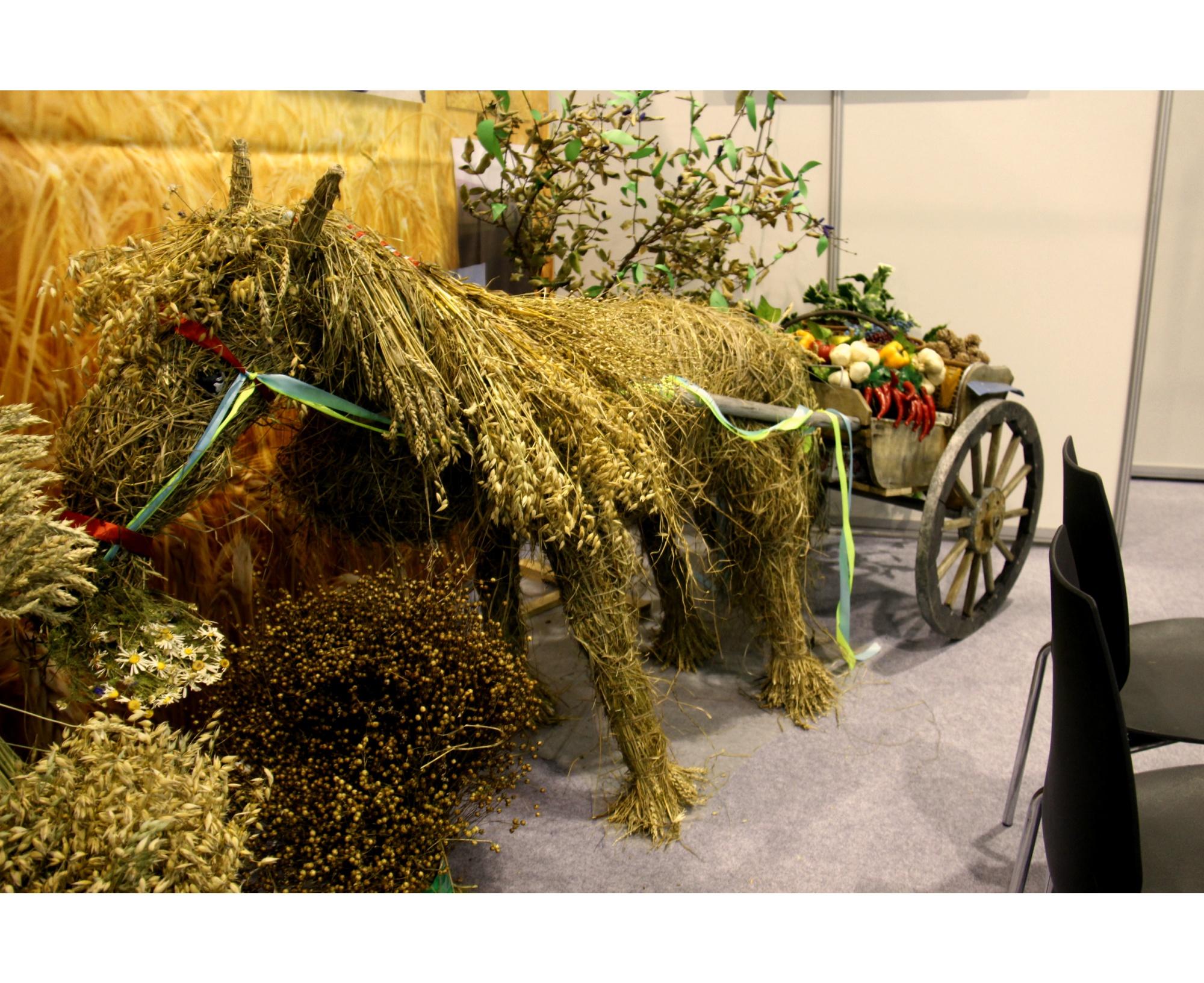 Соломенный конь не самоцель — он везет тележку с овощами