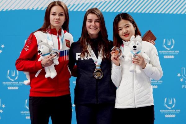 Челябинка Екатерина Ефременкова завоевала полный комплект наград на Универсиаде