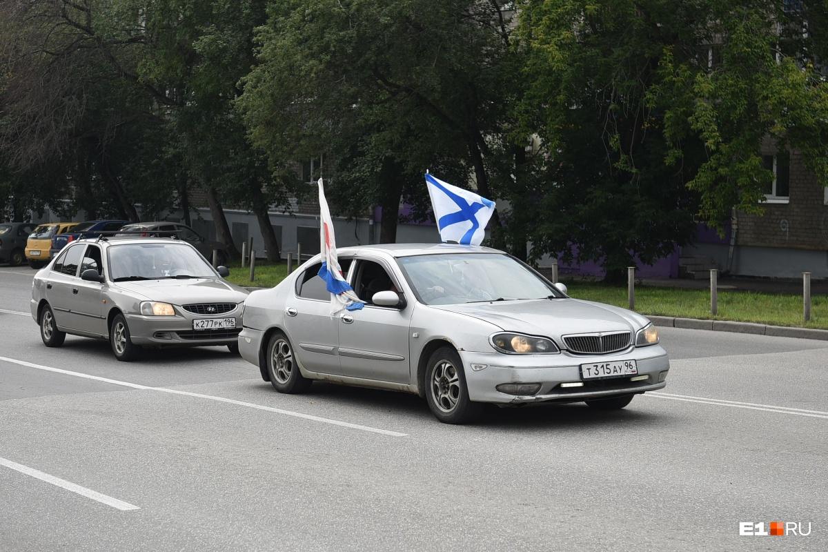 В День ВМФ на улицах Екатеринбурга можно заметить вот такие сухопутные флотилии