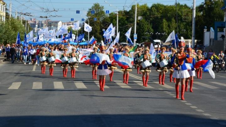 В Уфе сегодня посвятили в студенты 10 тысяч первокурсников