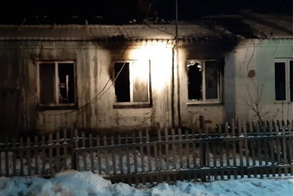 Площадь пожара составила 45 квадратных метров