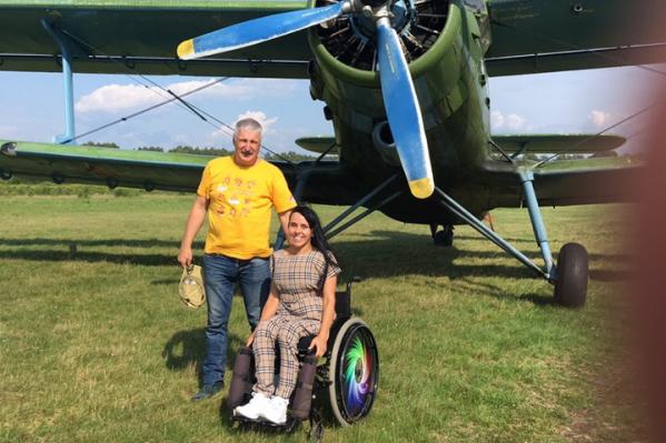 С пилотом-мэром Татьяна высоты не испугалась