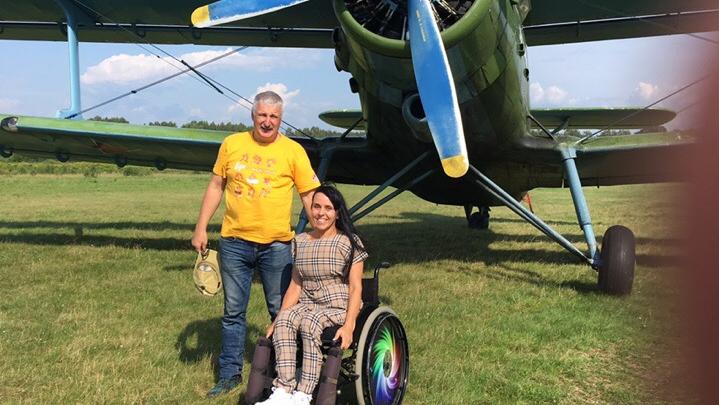«Вы дали мне небо!» В Рыбинске мэр города подарил девушке-инвалиду полёт на самолёте