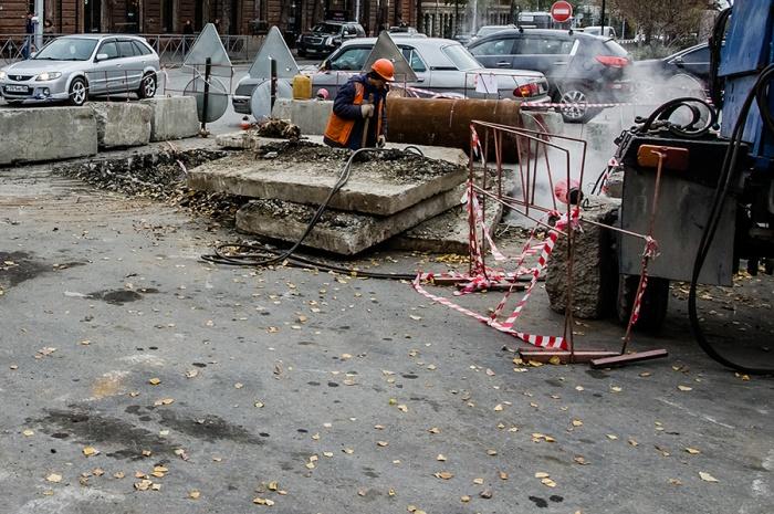 Работы на улцие Советской закончатся только в конце сентября