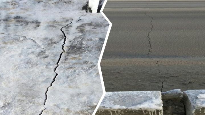 Пермяки испугались свежей трещины на Гайвинском мосту. Что говорят в пермской мэрии