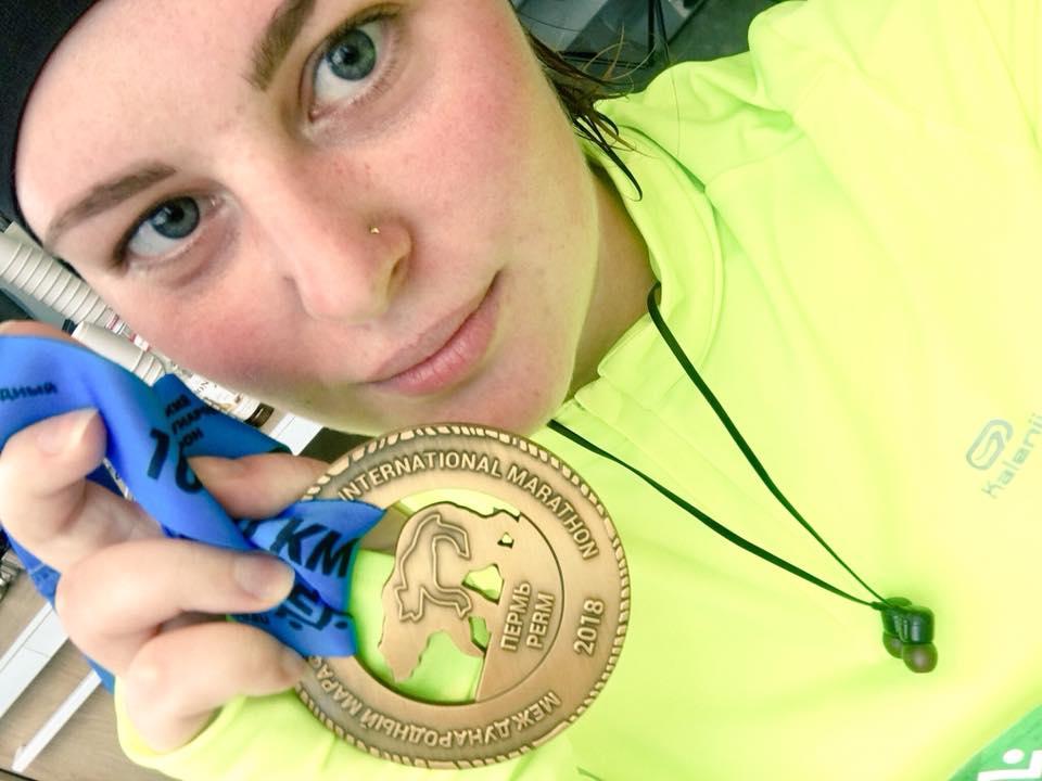 Мария Захарова, журналист из Екатеринбурга, участвовала в пермском марафоне впервые