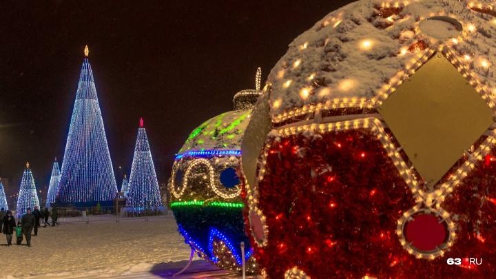 В новогоднюю ночь в Самаре будет идти снег