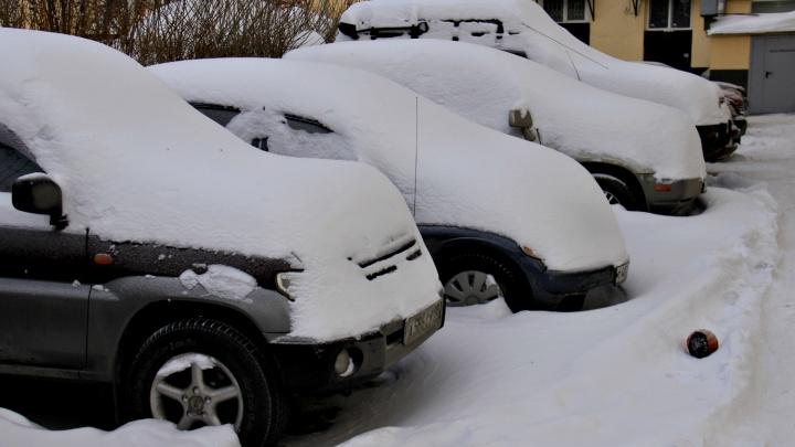 Железо под снегом: новосибирцы массово побросали машины из-за морозов