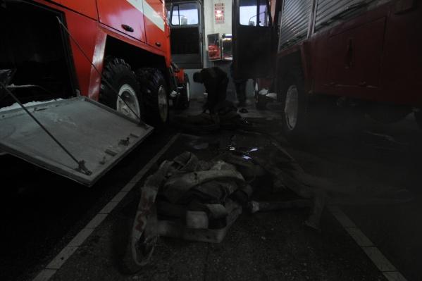 Площадь пожара составила 10 кв. м