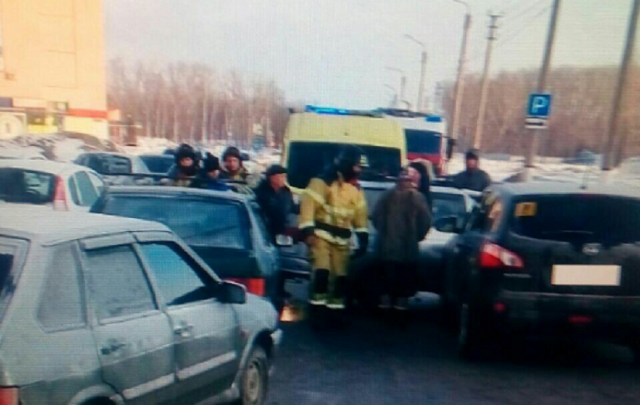 Массовое ДТП произошло в Башкирии, есть пострадавший