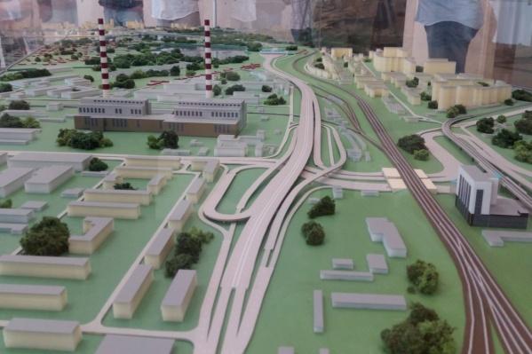 Проект развязки четвёртого моста через Обь на площади Энергетиков на левом берегу
