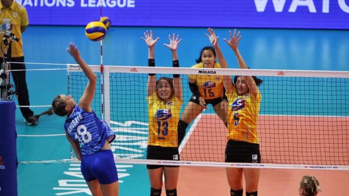 Волейболистки сборной России потерпели второе поражение на Лиге наций, уступив тайкам