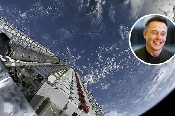 Снимок из ракеты «Falcon 9», доставлявшей спутники на орбиту