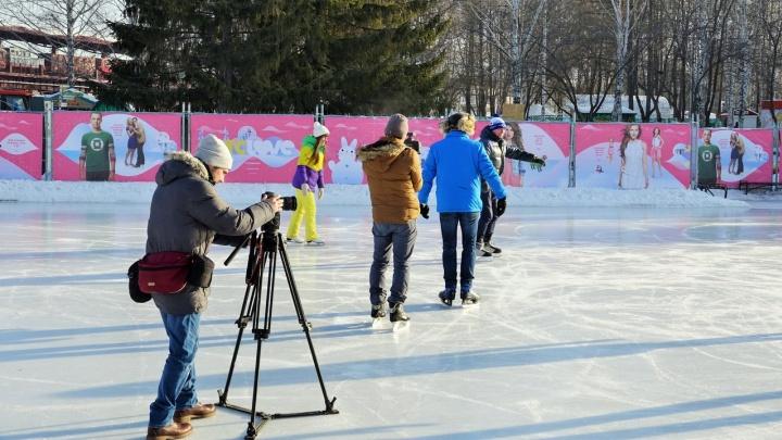 Журналисты НТВ приехали снимать программу про еду в парк Маяковского