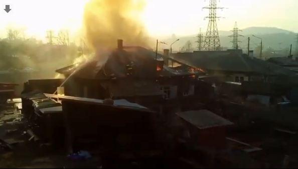 Возле «Бобрового лога» выгорел частный дом