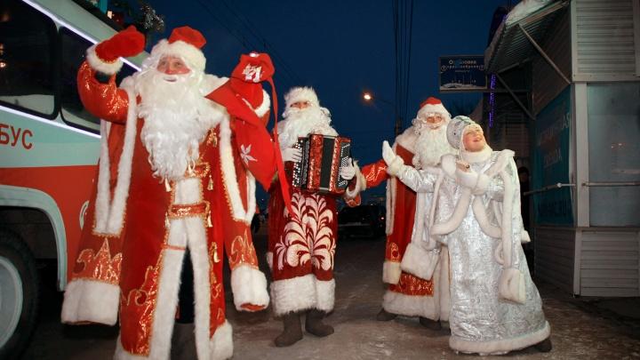 Новогодний «Дед Моробус» начнёт заезжать во дворы