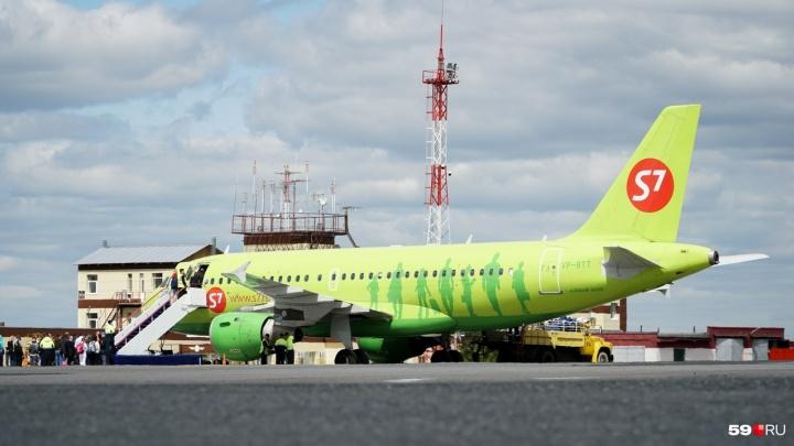 Авиакомпания S7 возобновит прямые рейсы из Перми в Санкт-Петербург